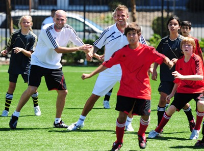 Beckham and Zidane Join adidas, MLS W.O.R.K.S and FieldTurf to Kick Off Footprint Fields Community Program